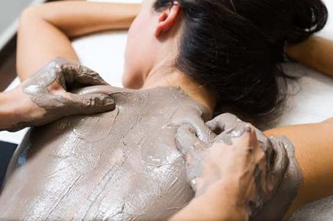 Woman receiving a spa treatment at our day spa Newstead